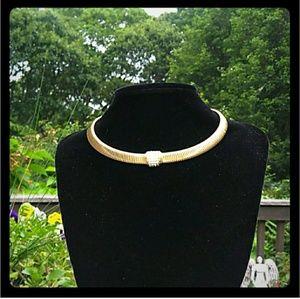 VTG CHRISTIAN DIOR GERMANY GoldTone Omega Collar